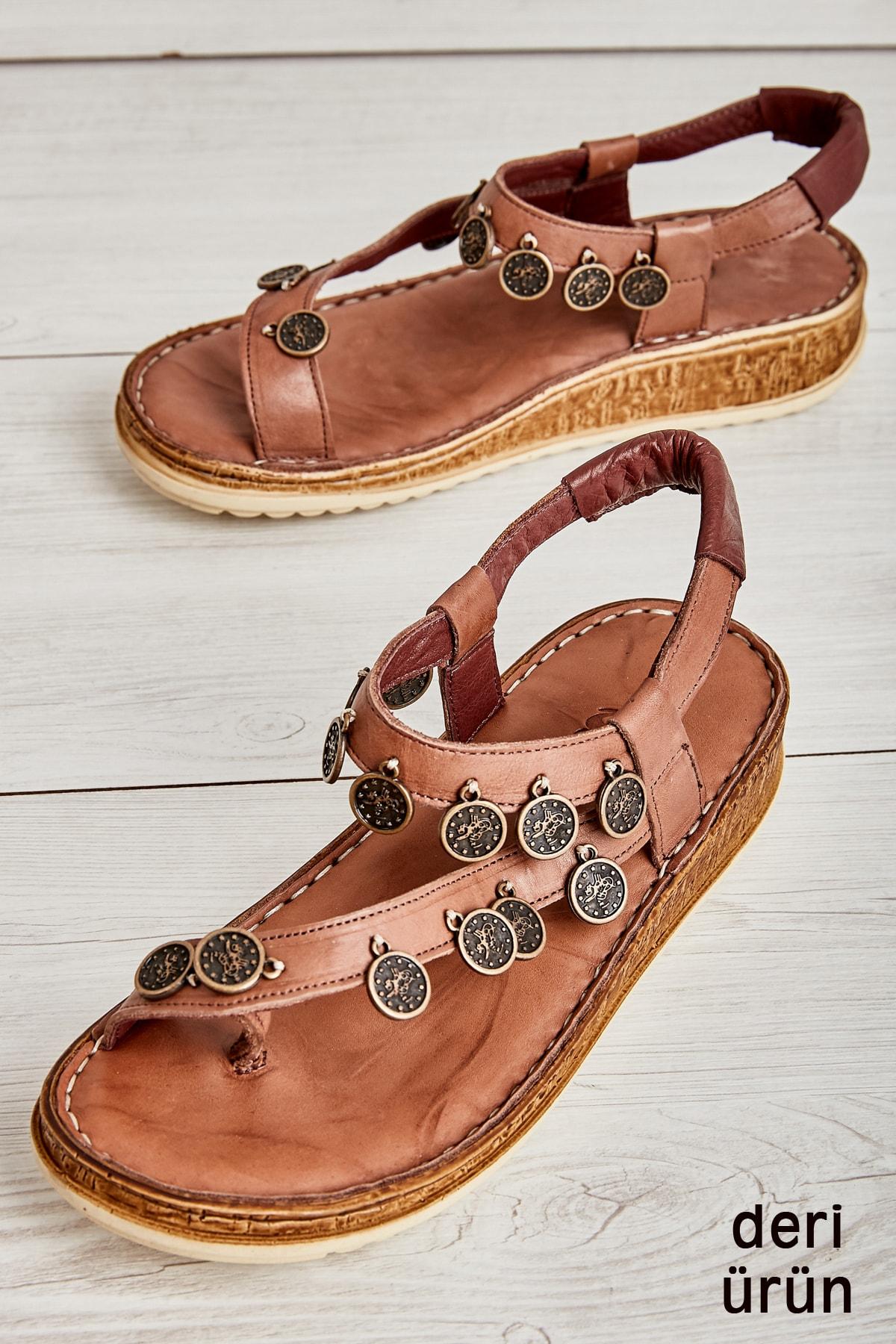 Bambi Vizon Kadın Sandalet L08091872 2