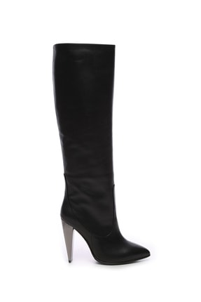 KEMAL TANCA Hakiki Deri Siyah Kadın Çizme Çizme 299 K23 3303 BN CZM SK20
