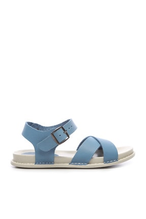 KEMAL TANCA Hakiki Deri Mavi Kadın Sandalet Sandalet 539 1308 BN SNDLT Y20