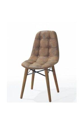 AVVİO Ahenk Ahşap Ayaklı Kahve Sandalye