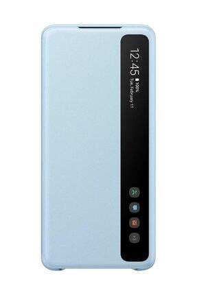 Samsung Galaxy S20 Plus Clear View Kılıf Mavi