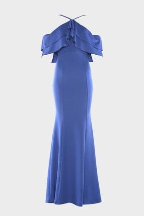 TRENDYOLMİLLA Saks Volan Detaylı Abiye & Mezuniyet Elbisesi TPRSS20AE0133