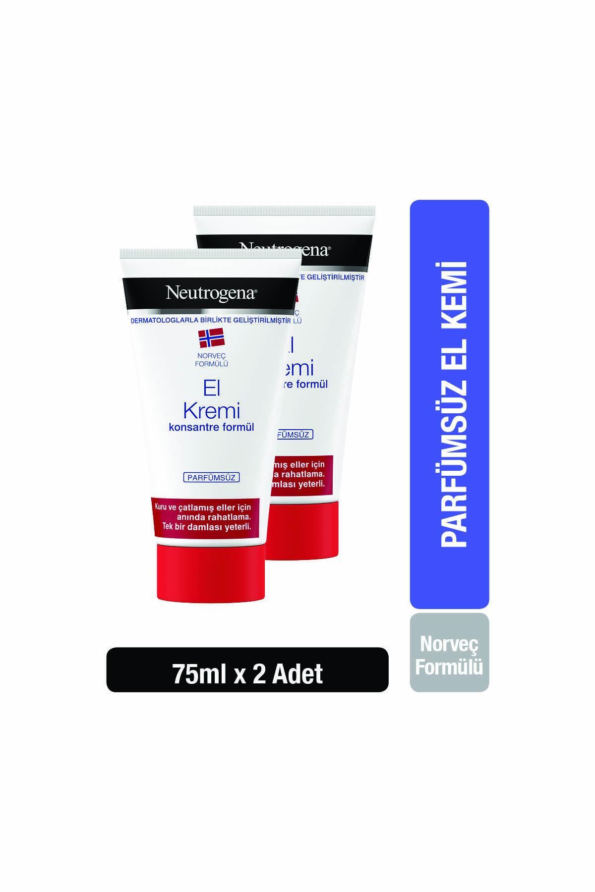 Neutrogena Norveç Formülü El Kremi Parfümsüz 75 Ml X 2 Adet 1
