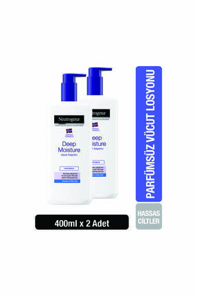 Neutrogena Deep Moisture Vücut Losyonu Parfümsüz Hassas Ciltler 400 ml x2