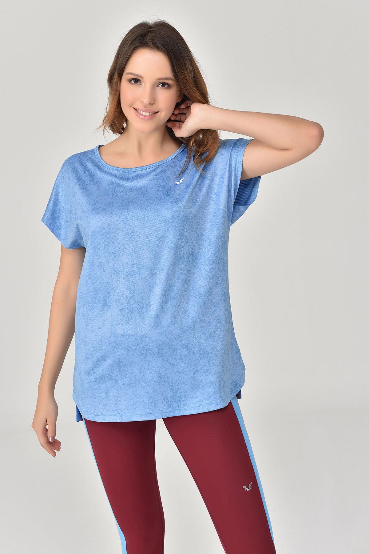 bilcee Mavi Kadın T-Shirt GS-8075 1