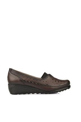 Ziya Kadın Hakiki Deri Ayakkabı 10155 L2352 BORDO