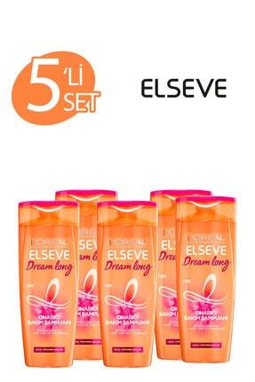 ELSEVE 5'li Dream Long Onarıcı Bakım Şampuanı 360 ml Seti  36005237829325