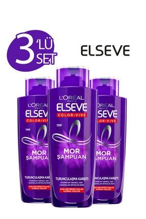 ELSEVE 3'lü Turunculaşma Karşıtı Mor Şampuan 200 ml Seti  36005236991483