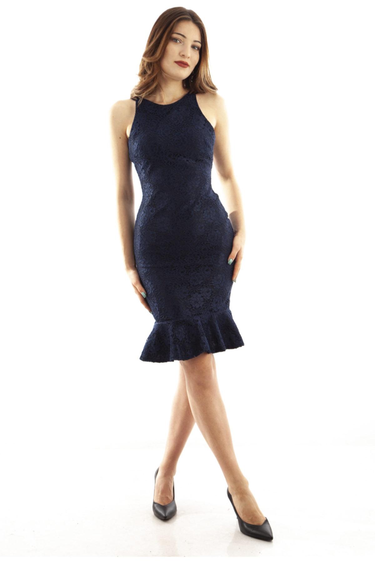 Ardanewline Kadın Lacivert Elbise 130136-10 1