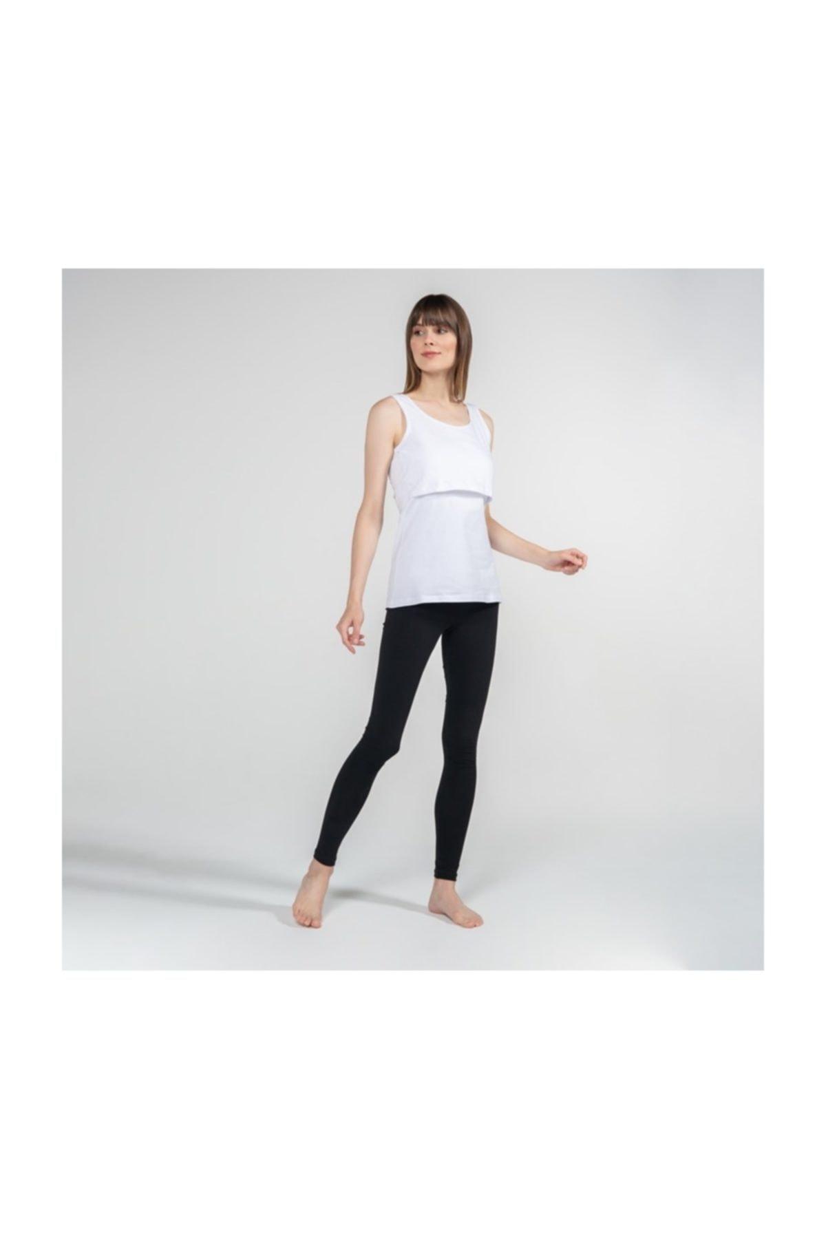 FUNNA MAMMA Atlet Yaka Emzirme T-Shirt - Paola - Beyaz 2