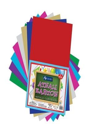 FLY COLOR Metalik Aynalı Karton 20x30 cm 8' li