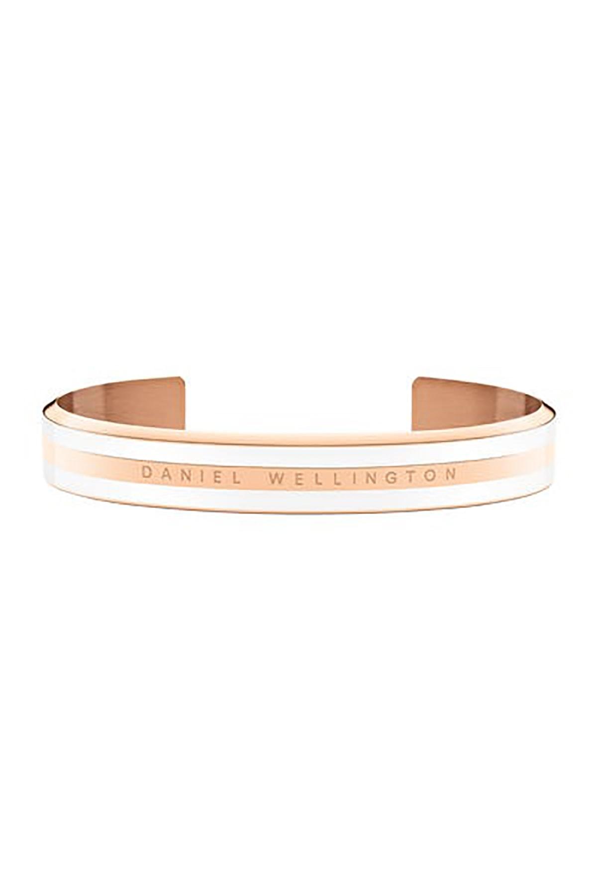 Daniel Wellington Classic Bracelet Satin White Rose Gold Small - Kadın için