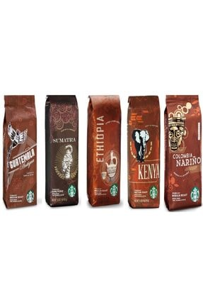 Starbucks Deneme Paketi Filtre Kahve 5x250 gr 5 Paket Çekirdek Kahve