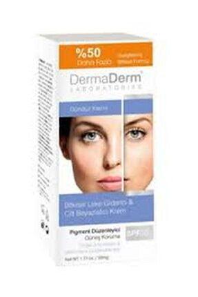 DermaDerm 2 Adet Bitkisel Leke Giderici Krem Spf+50 Gündüz Kremi