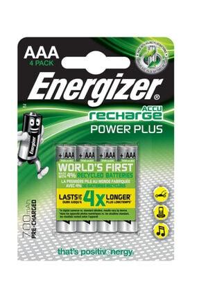 Energizer Power Plus Hr03 Şarj Edilebilir Aaa Pil Şarj Edilebilir Nimh 700 Mah 1.2 V Bp4 Ese3a47 (4 Lü)