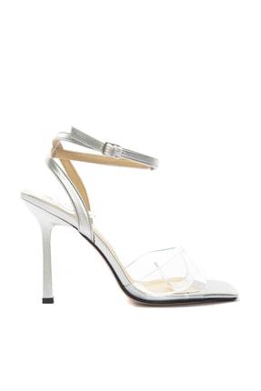 TRENDYOLMİLLA Gümüş Kadın Klasik Topuklu Ayakkabı TAKSS20TO0332