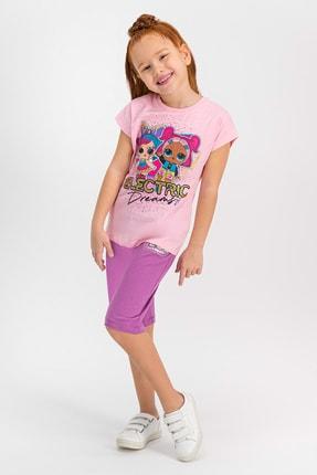 LOL Lisanslı Açık Pembe Kız Çocuk Kapri Takım