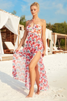 Pierre Cardin Kadın Straplez Formlu Elbise Pareo 201825 Çiçekli