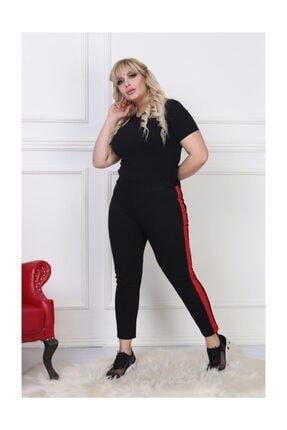 EMEZ Kırmızı Şeritli Dalgıç Kumaş Pantolon