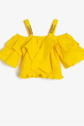 Koton Kids Kız Çocuk Sarı Bluz