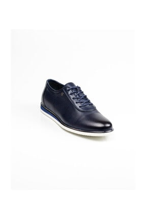 MARCOMEN Hakiki Deri 11389 Lacivert Klasik Erkek Ayakkabı