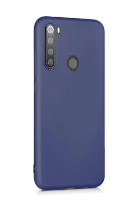 Microsonic Matte Silicone  Redmi Note 8 Kılıf, Microsonic Lacivert