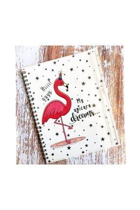 Yamamiya Flamingo Tasarımlı Kalemlik Bölmeli Kapaklı Defter