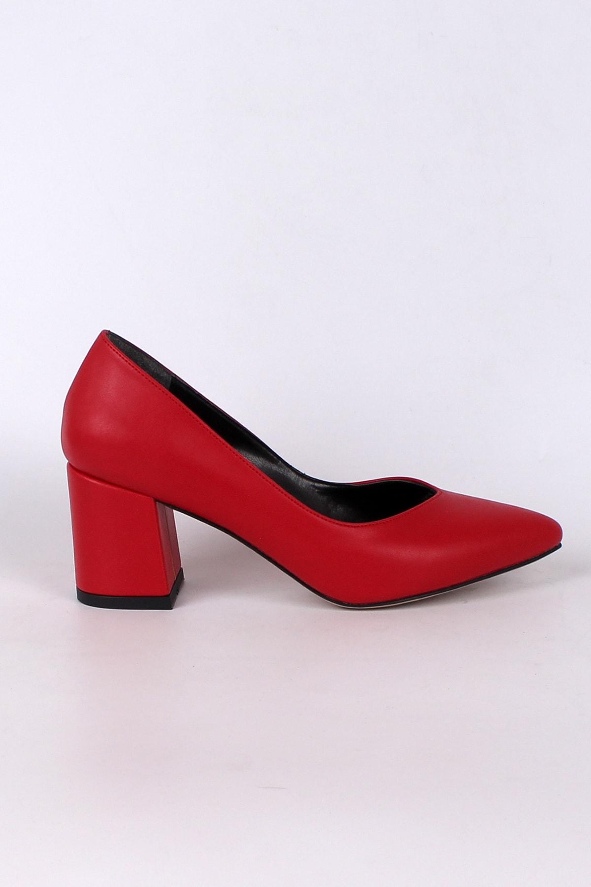 Platin Topuklar Kırmızı Topuklu Kadın Ayakkabı 2