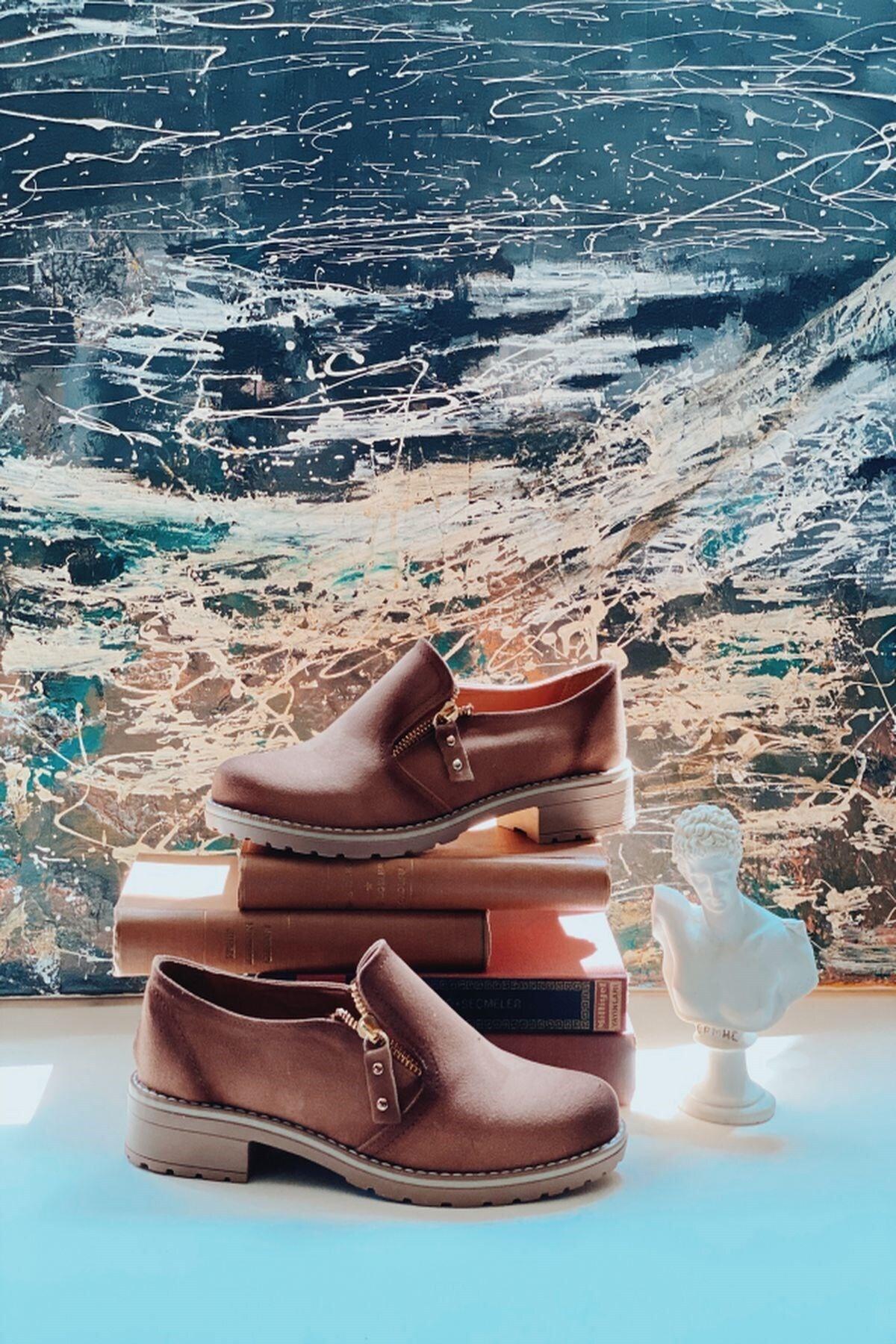Arma Shoes Kadın Fermuarlı Süet Ayakkabı 1