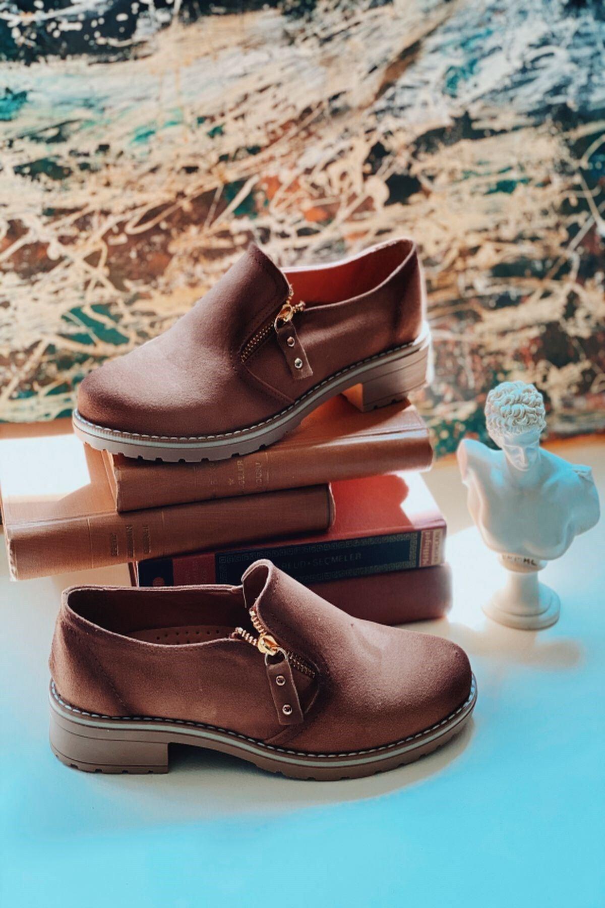 Arma Shoes Kadın Fermuarlı Süet Ayakkabı 2