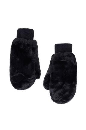 Mizalle Kadın Kürklü Örme Eldiven Siyah 20SBMZL5010002-Siyah