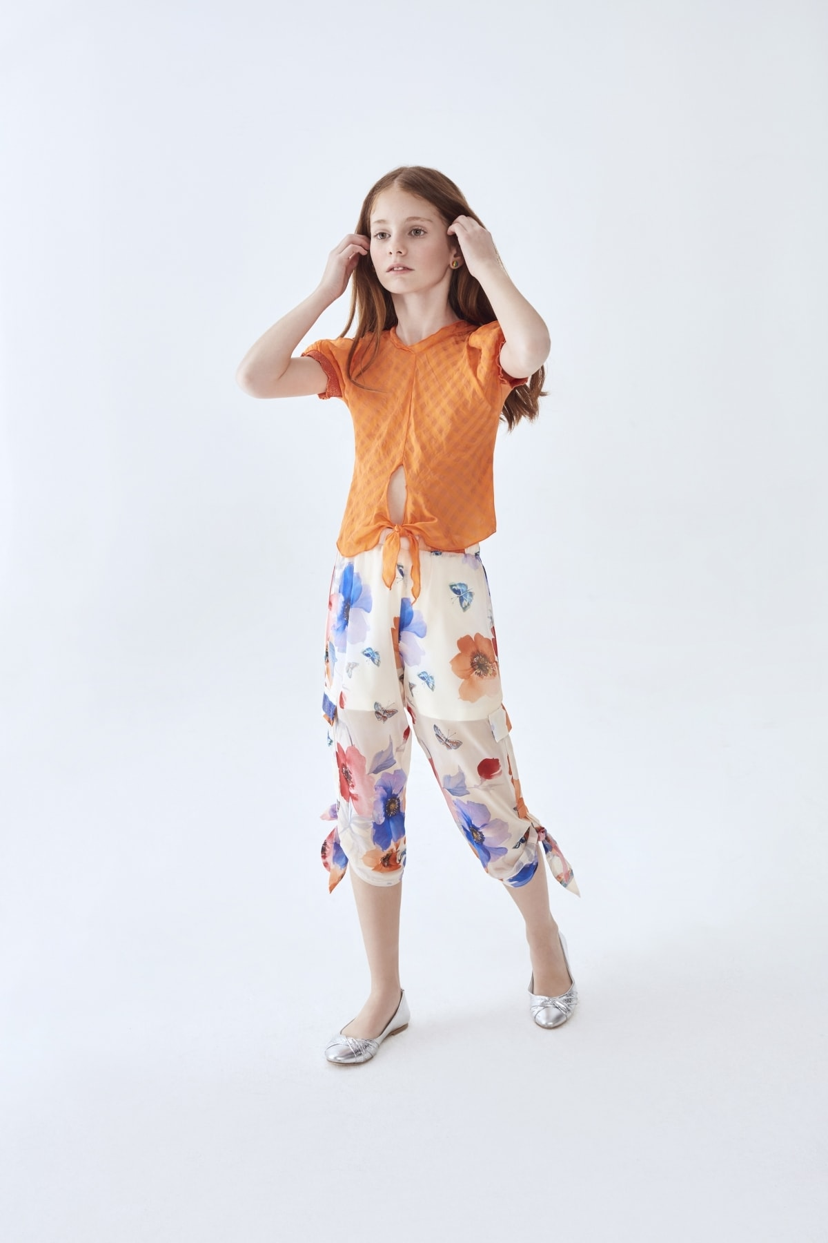 Lia Lea Kız Çocuk Çiçekli Pantolon 1