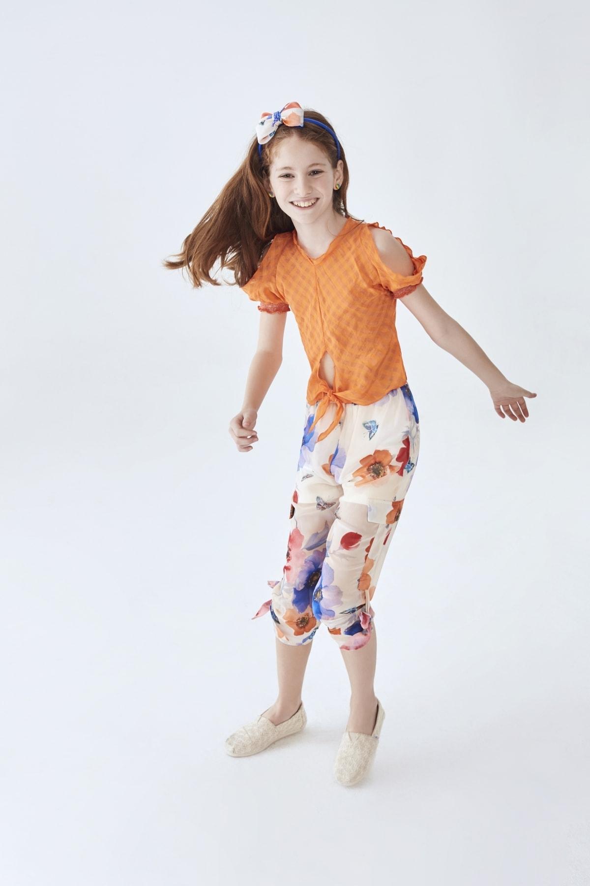 Lia Lea Kız Çocuk Çiçekli Pantolon 2