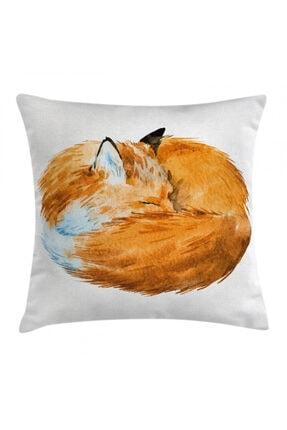 Orange Venue Hayvan Deseni Minder Kılıfı Tatlı Tilki Deseni