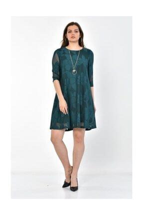 Modkofoni Kadın Zümrüt Yeşil Abiye Elbise