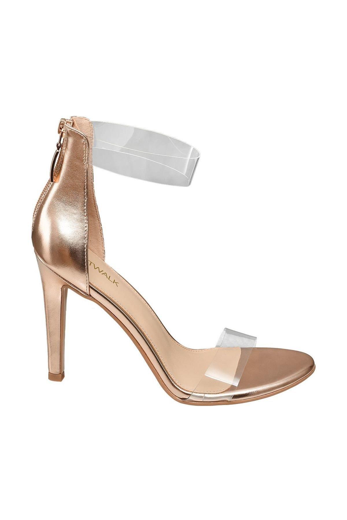 Catwalk Deichmann Roze Altın Kadın Topuklu Sandalet 1