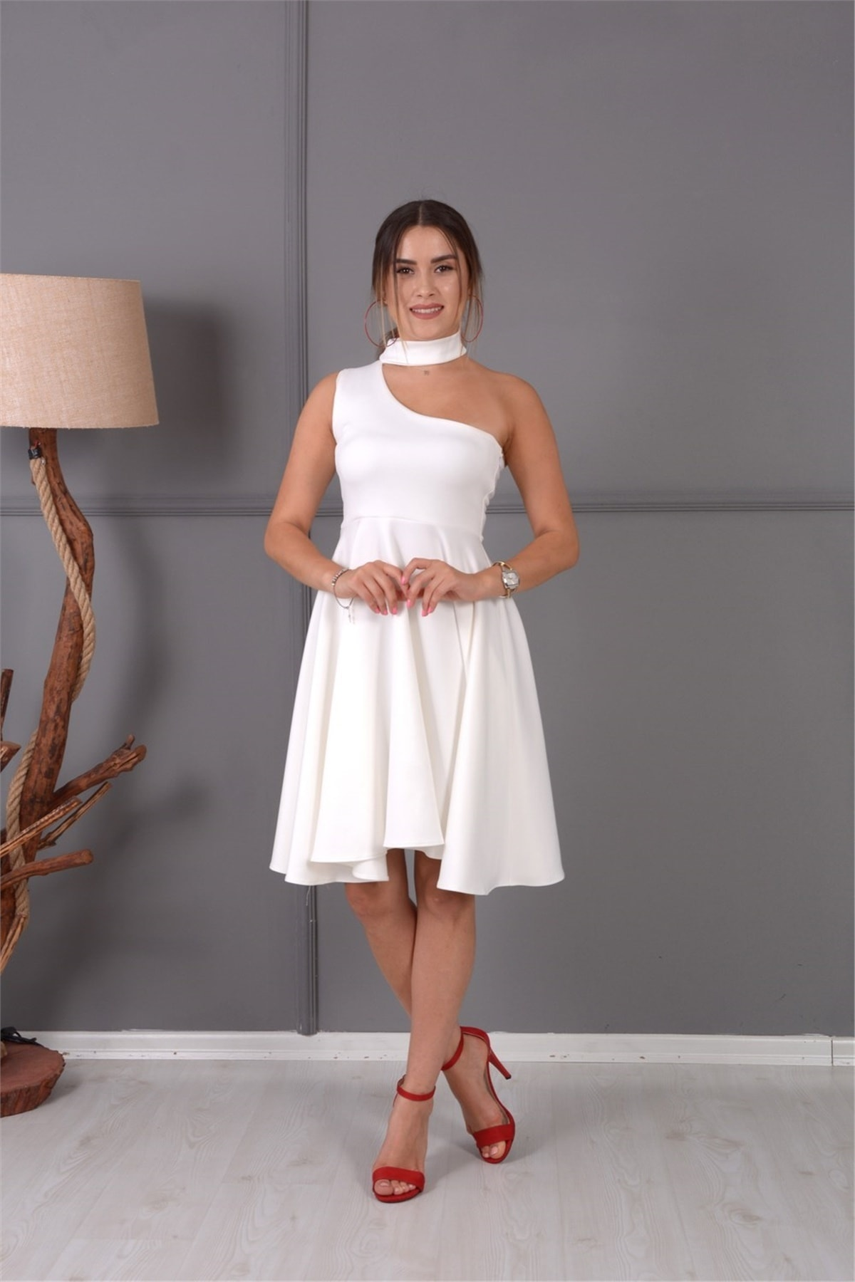 giyimmasalı Mini Elbise Beyaz 1