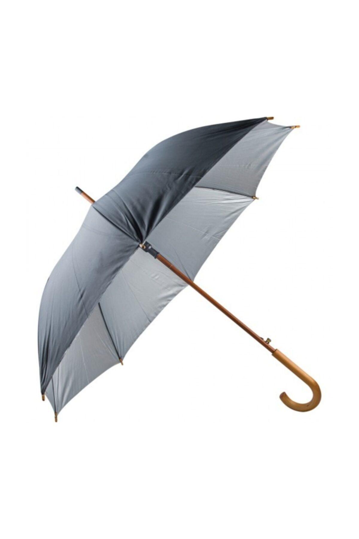 TREND Ahşap Saplı Fiber Glass Kırılmaz Şemsiye (siyah) 1