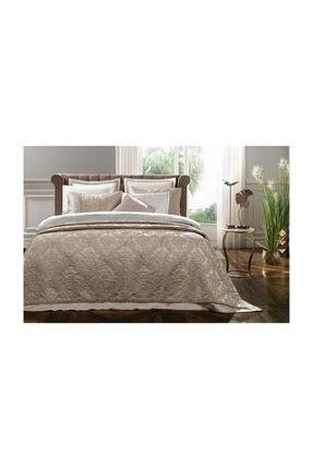 Yataş Rosalin Ekru Yatak Örtülü Nevresim Takımı