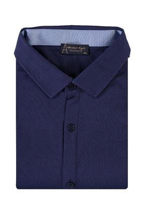 Kiğılı Erkek Mor King Size Polo Yaka Gömlek Model Tişört 94573