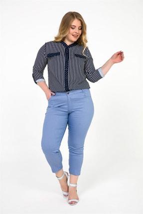 By Saygı Kadın Mavi Likra B.B Bilek Pantolon S-19Y1060003