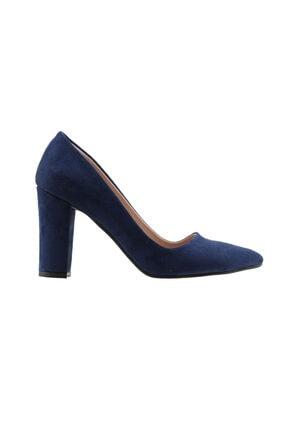 Ayakland Günlük 8 cm Topuk Bayan Süet Ayakkabı 137029-311