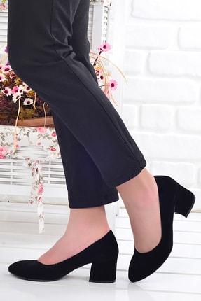 Ayakland 97544-312 5 Cm Topuklu Kadın Süet Ayakkabı