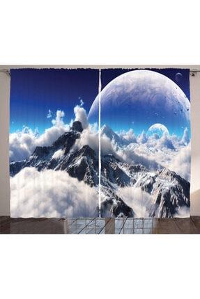 Orange Venue Dijital Sanat Perde Karlı Dağlar Temalı