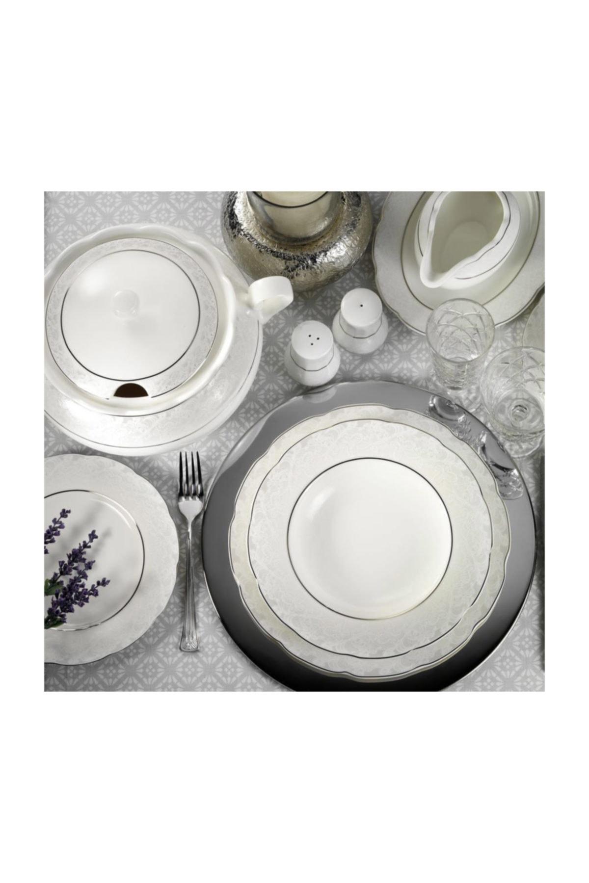 Kütahya Porselen Bone Olympos 62 Parça 9287 Desenli Yemek Takımı 2