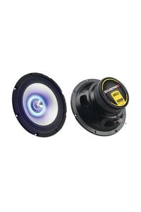 Soundmax Sx-M8Ld 20 Cm Led Midrange Speaker 400W Mavi