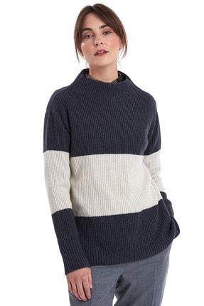 Barbour Border Knit Grey Marl