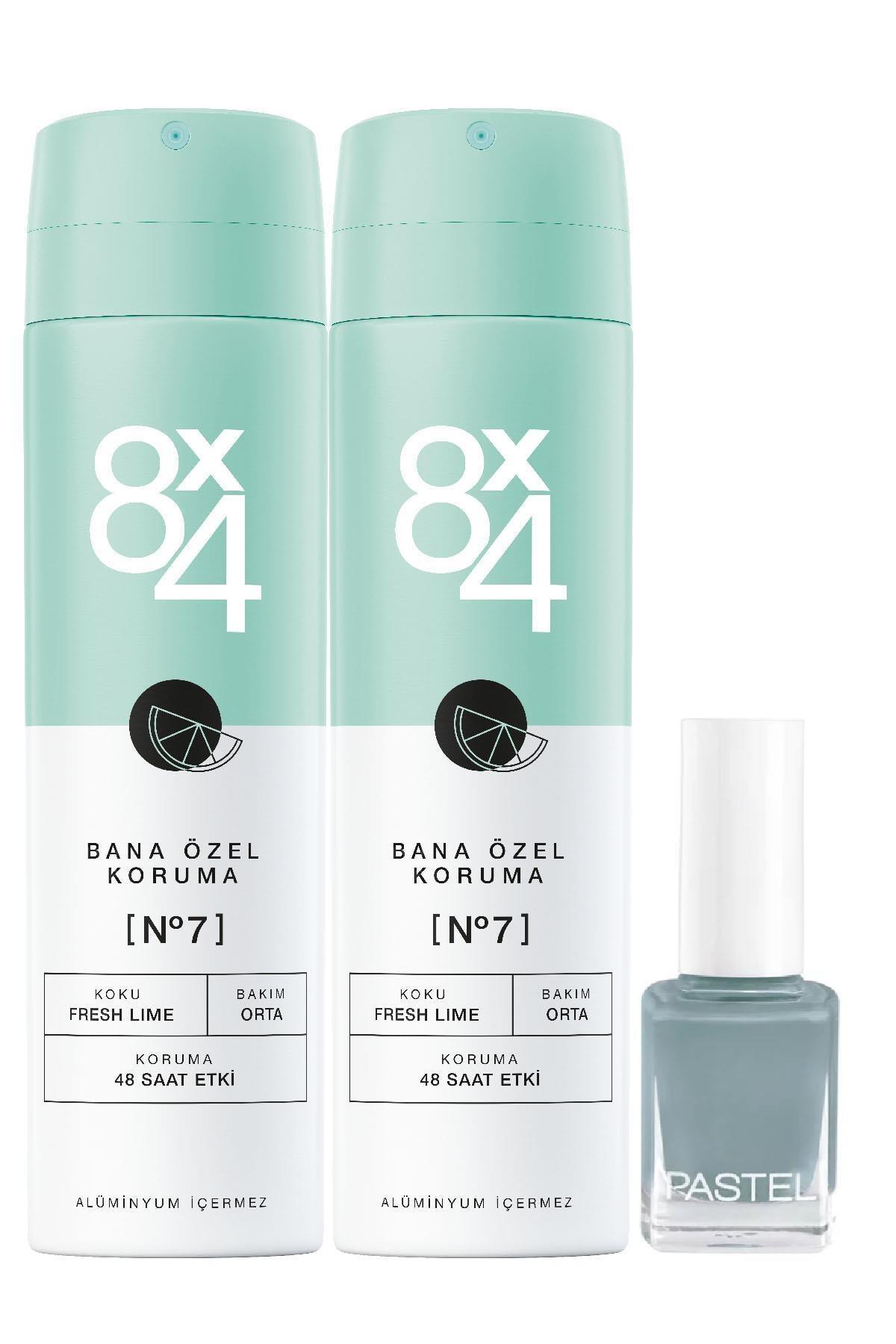 8x4 No.7 Fresh Lime Kadın 2'li Sprey Deodorant 150 ml & Oje