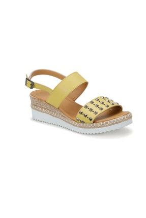 ART BELLA Cs19132 Sarı Kadın Sandalet