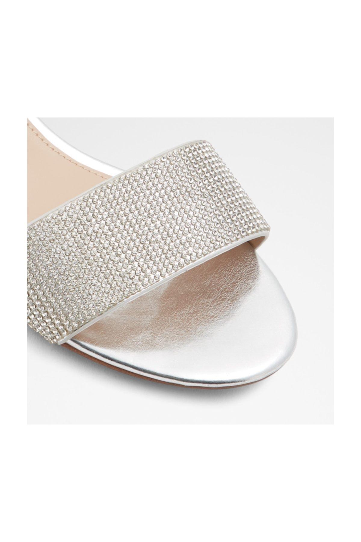 Aldo Kadın Gümüş Taşlı Sandalet 2